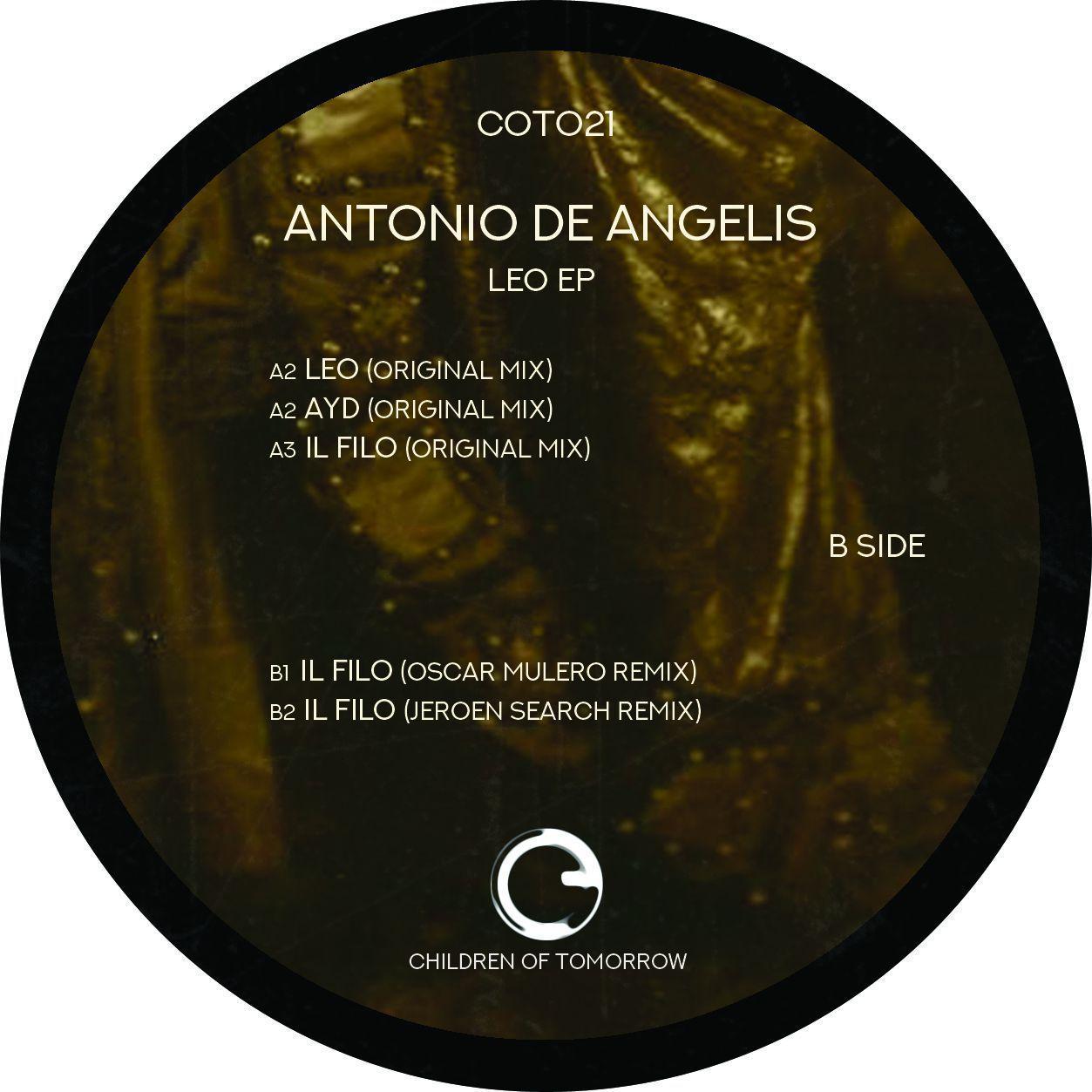 "Antonio De Angelis ""Leo EP  - Oscar Mulero & Jeroen Search remixes"