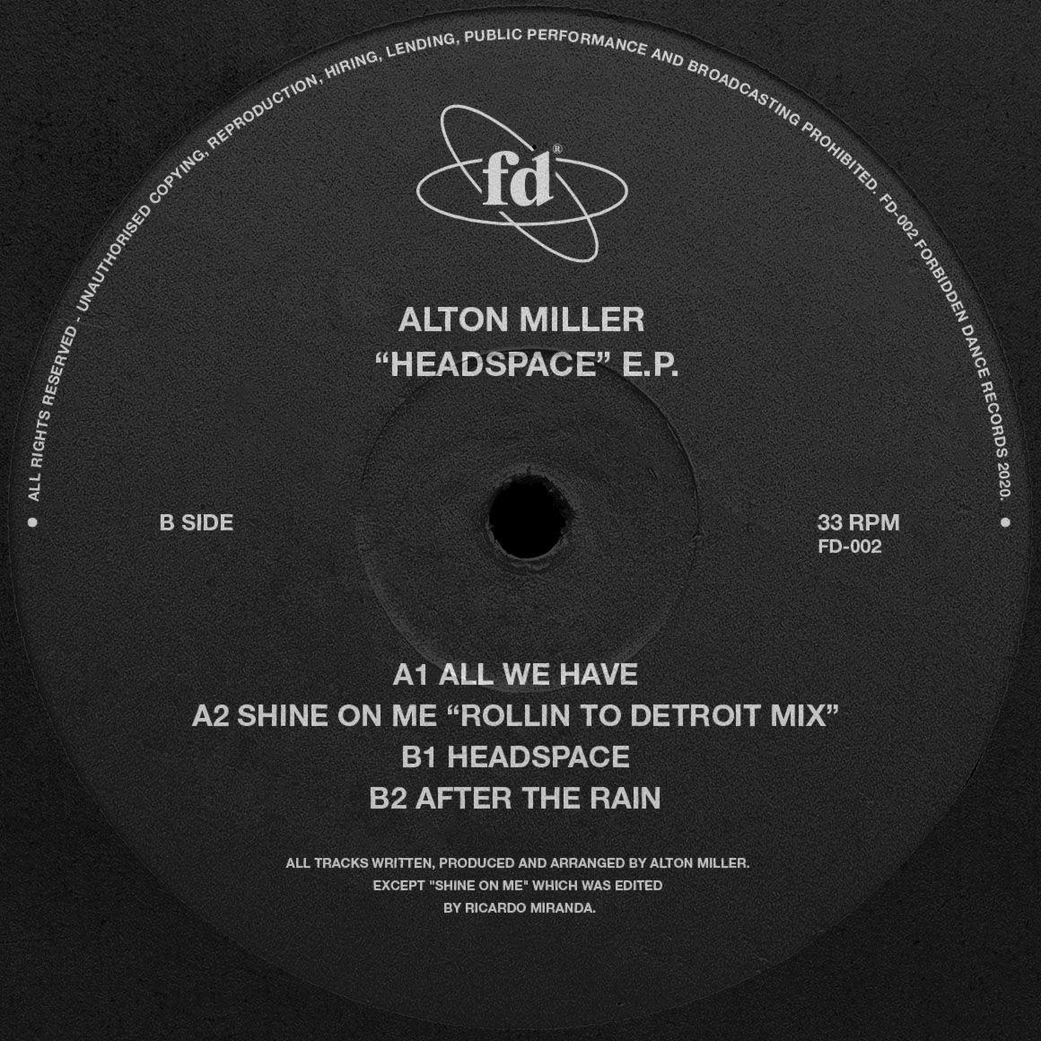 Aton Miller - Headspace EP