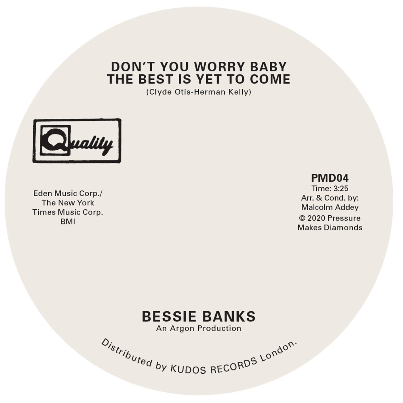 Bessie Banks - Don\'t You Worry Baby The Best Is Yet To Come / Try To Leave Me If You Can