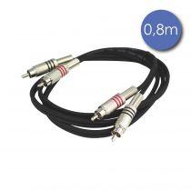 Câble 0,8m - RCA Mâle - RCA Mâle