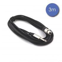 Câble 3m - JACK MONO Mâle - XLR 3 PIN Femelle