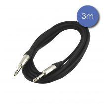 Câble 3m - JACK STEREO Mâle - JACK STEREO Mâle