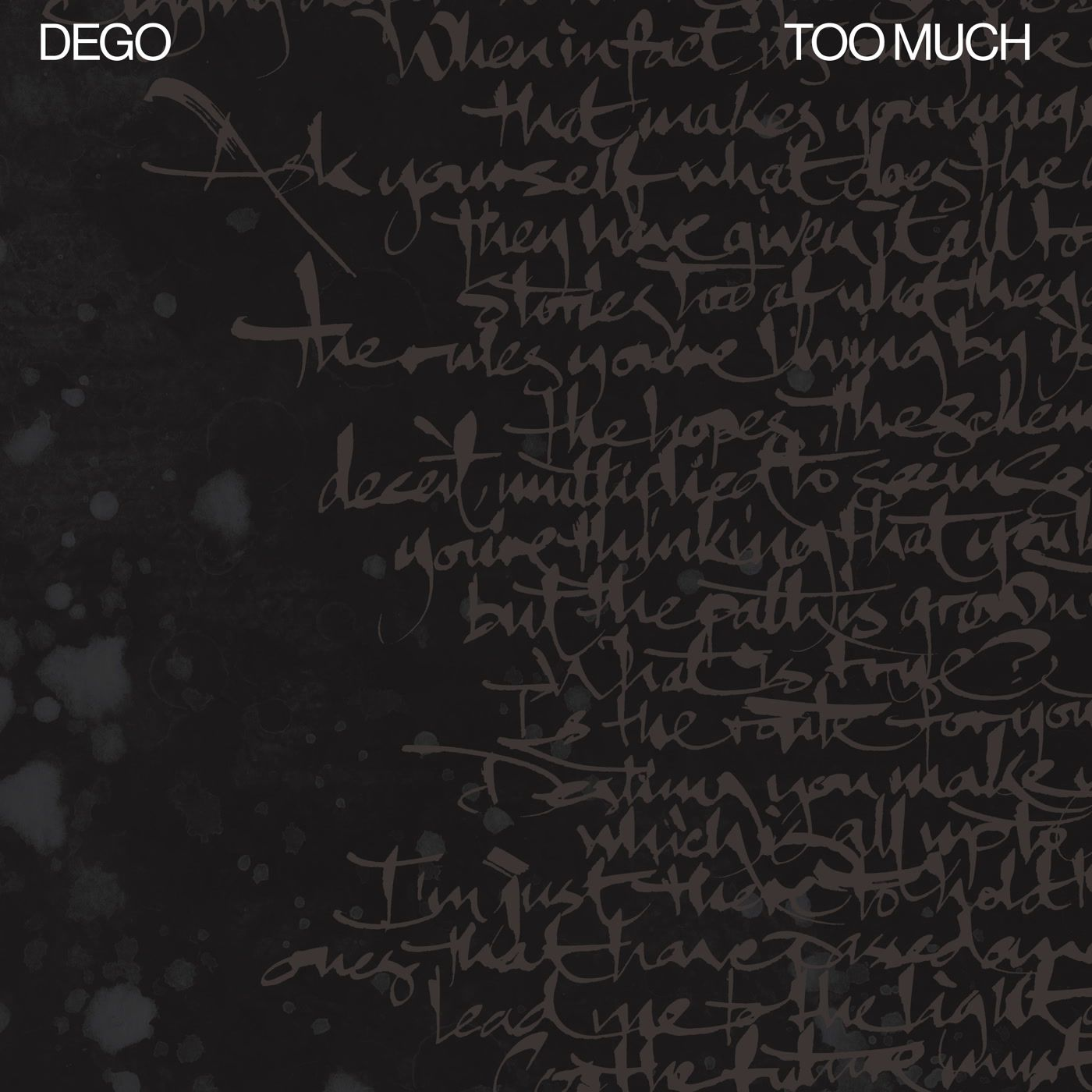 Dego - Too Much
