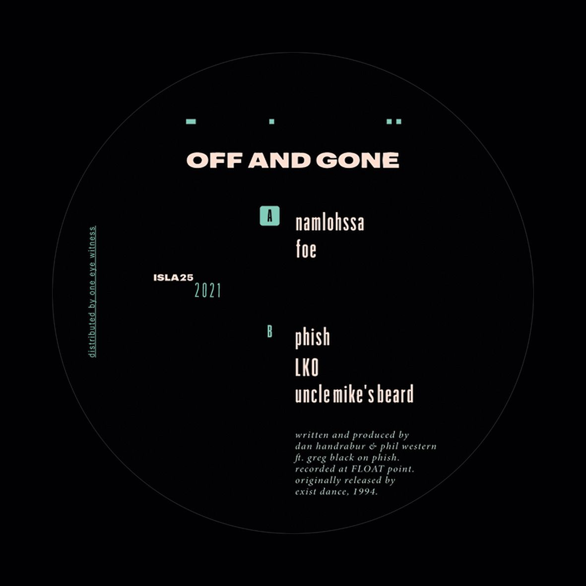 Off And Gone - EP [re-issue]