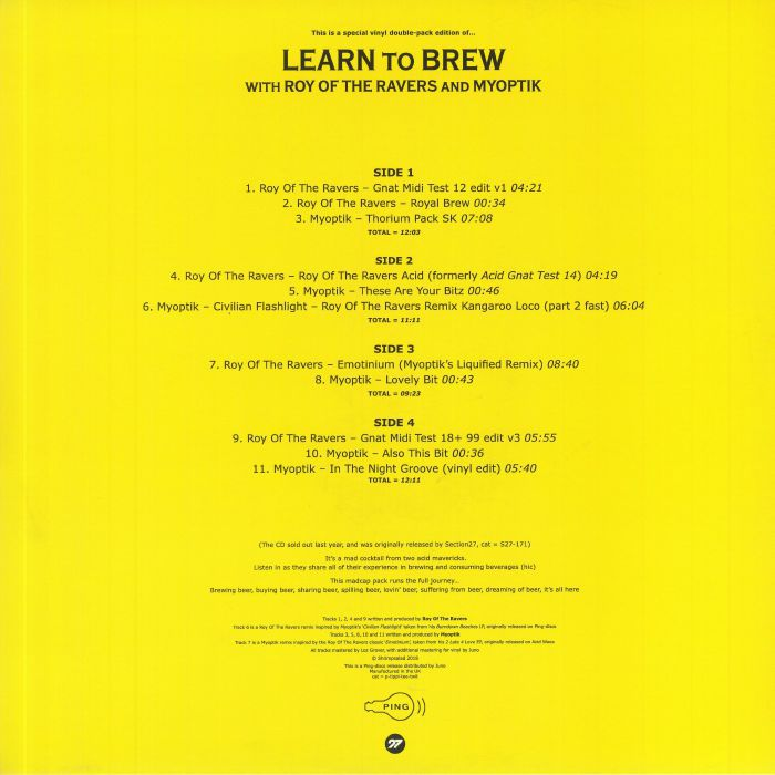 ROY OF THE RAVERS / MYOPTIK -  Learn To Brew (featuring Emotinium remix)