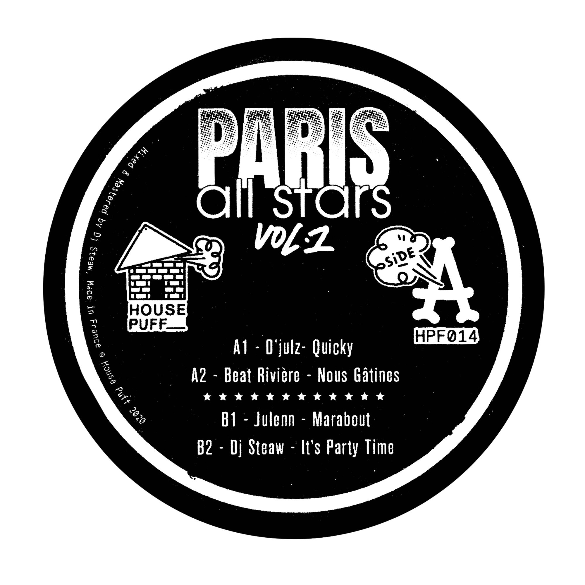 V/A {D'julz, Dj Steaw, Beat Rivière, Julenn] - Paris all stars vol.1 EP