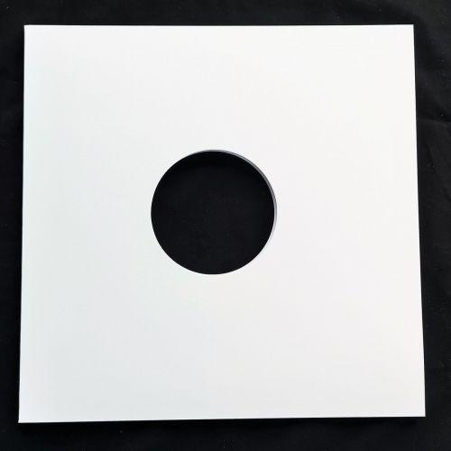 White outter sleeve for vinyl, 2 holes (x10)
